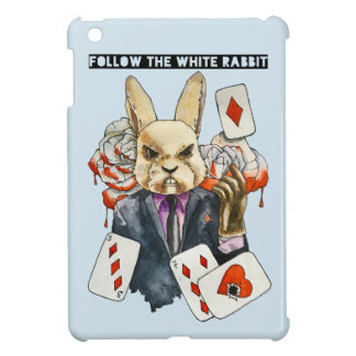 follow the White Rabbit iPad Mini Cover
