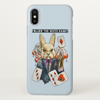 follow the White Rabbit iPhone X Case