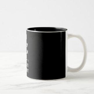 Follow the white rabbit Two-Tone coffee mug
