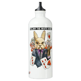 follow the White Rabbit Water Bottle