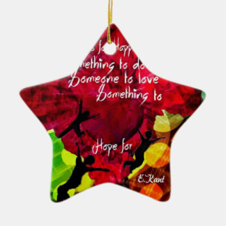 Follow this and be happy entire your life ceramic star decoration