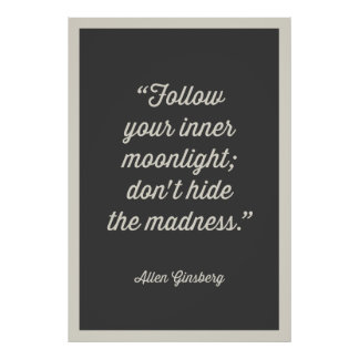 FOLLOW YOU INNER MOONLIGHT POSTER | GRAY