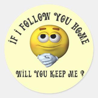 Follow You Smiley Sticker