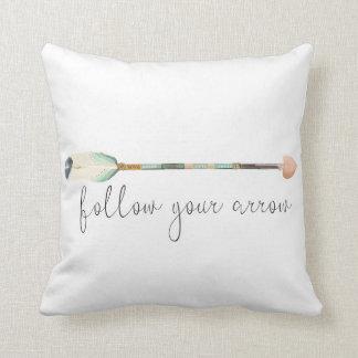 Follow Your Arrow Boho Nursery Baby Girl Pillow
