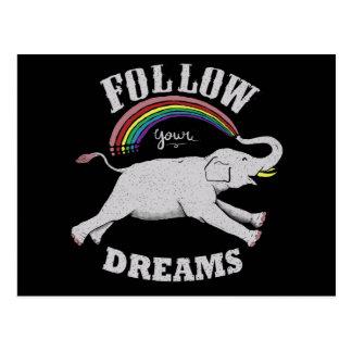 Follow Your Dream postcard