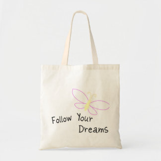 Follow Your Dreams Butterfly Budget Tote Bag