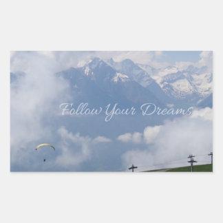Follow Your Dreams custom stickers