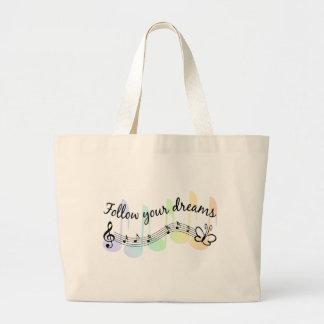 Follow Your Dreams Jumbo Tote Bag