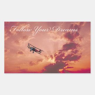 Follow Your Dreams Rectangular Sticker