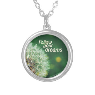 Follow Your Dreams Silver Plated Necklace