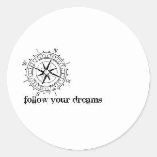 Follow Your Dreams So Beautifully Broken Round Stickers