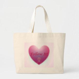 Follow your Heart Jumbo Tote Bag