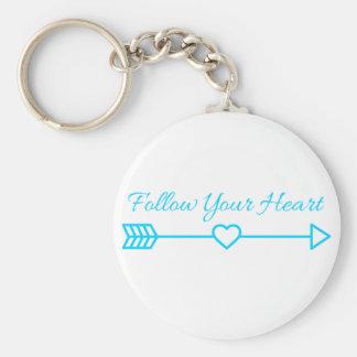 Follow Your Heart Key Ring
