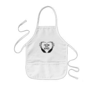 Follow your heart kids apron