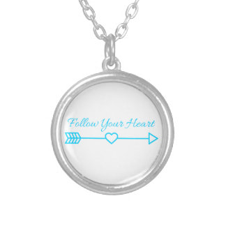 Follow Your Heart Silver Plated Necklace