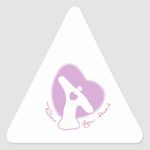 Follow Your Heart Triangle Stickers