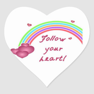 FOLLOW YOUR HEART STICKERS