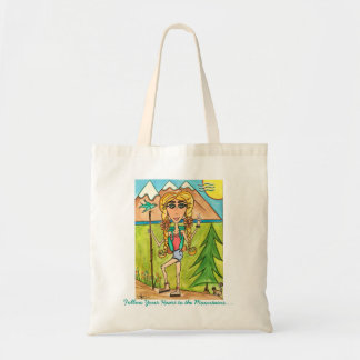 Follow Your Heart to the Mountains reusable tote Budget Tote Bag