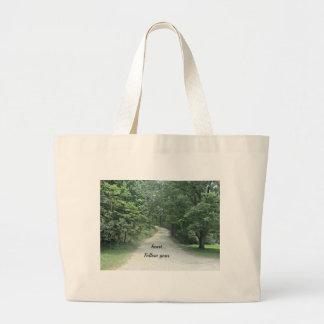 Follow your heart... jumbo tote bag