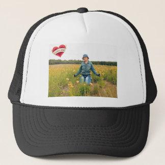 Follow your heart trucker hat