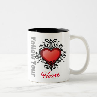 Follow Your Heart Two-Tone Coffee Mug