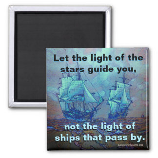 Follow Your Own Path Square Magnet