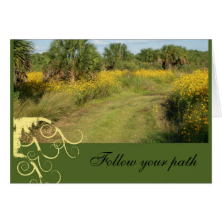 """Follow your path, """"Break-up Card"""" Note Card"""