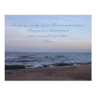 Follow Your Plan Prayer postcard