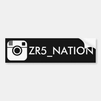 Follow @ZR5_NATION Black Bumper Sticker