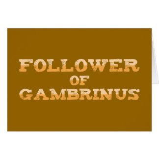 Follower OF Gambrinus Card