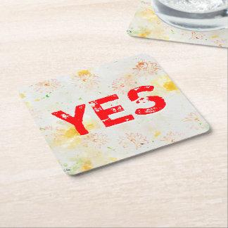 Follower Of JESUS Square Paper Coaster