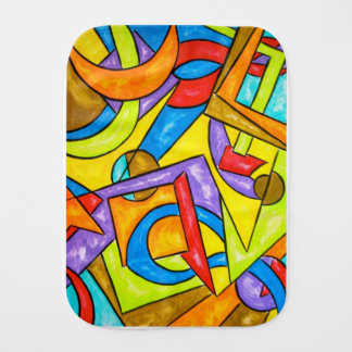 Following The Instructions-Abstract Art Geometric Burp Cloth