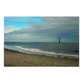 Folly Beach Lighthouse Poster