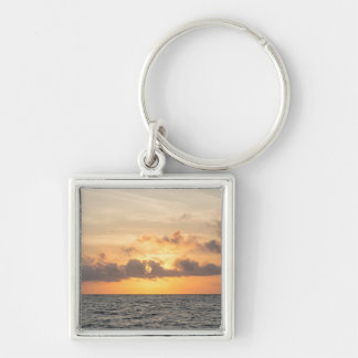 Folly Beach Morning Key Ring