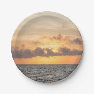 Folly Beach Morning Paper Plate