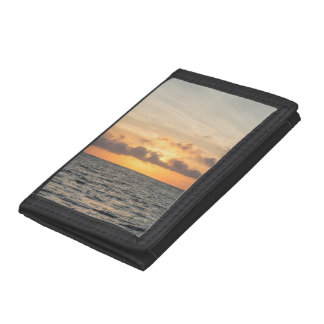 Folly Beach Morning Trifold Wallet