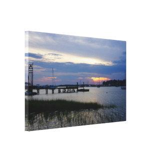 Folly Harbor Sunset Canvas Print