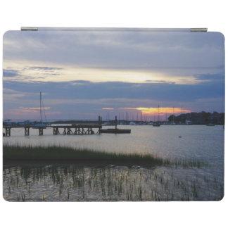 Folly Harbor Sunset iPad Cover