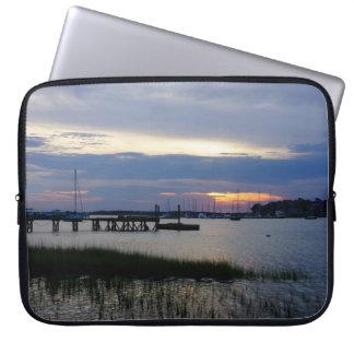 Folly Harbor Sunset Laptop Sleeve