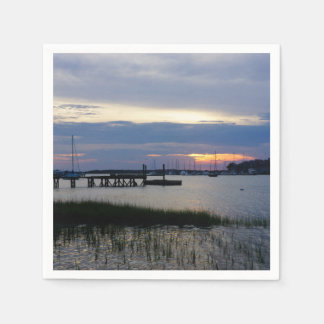 Folly Harbor Sunset Paper Serviettes