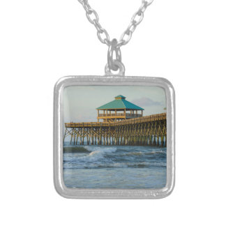 Folly Pier Morning Silver Plated Necklace