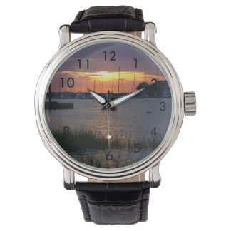 Folly River Sunset Wrist Watches