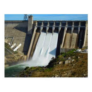 Folsom Icon: Folsom Dam with gates open Postcard