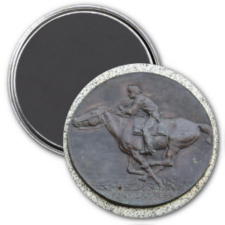 Folsom Icon: Pony Express Trail Marker Magnet