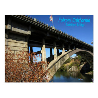 Folsom Icon: Rainbow Bridge with kayak Postcard