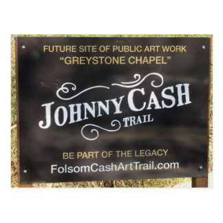 Folsom Icon: Sign on the Johnny Cash Trail Postcard