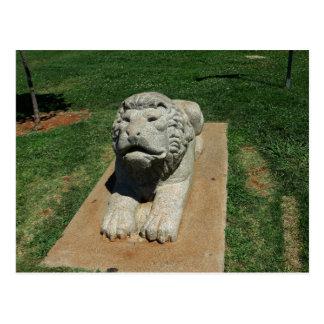 Folsom Icon: Stone Lion Sculpture Postcard