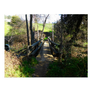 Folsom Icon: Wooden trail bridge Postcard