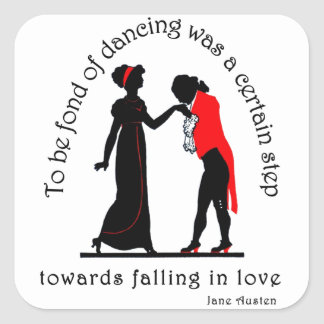 Fond of Dancing Square Sticker