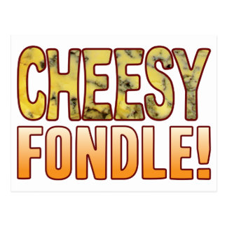 Fondle Blue Cheesy Postcard